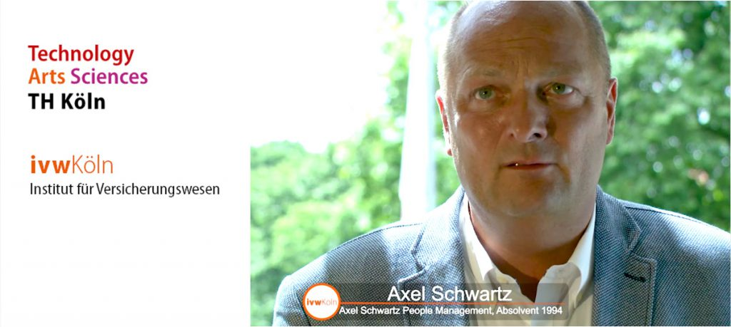 Axel Schwartz wirkt bei neuem Imagevideo des Instituts für Versicherungswesen an der TH Köln mit