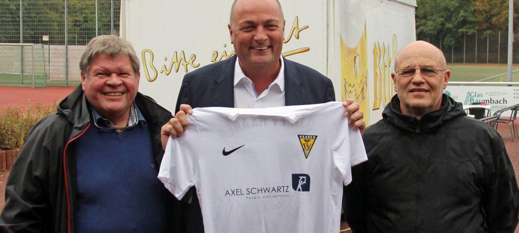 Sport-Sponsoring: Axel Schwartz People Management unterstützt den Vereinsfußball in Aachen